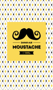 Moustache sugar brand - GAR agri-business and food. Packaging close-up.